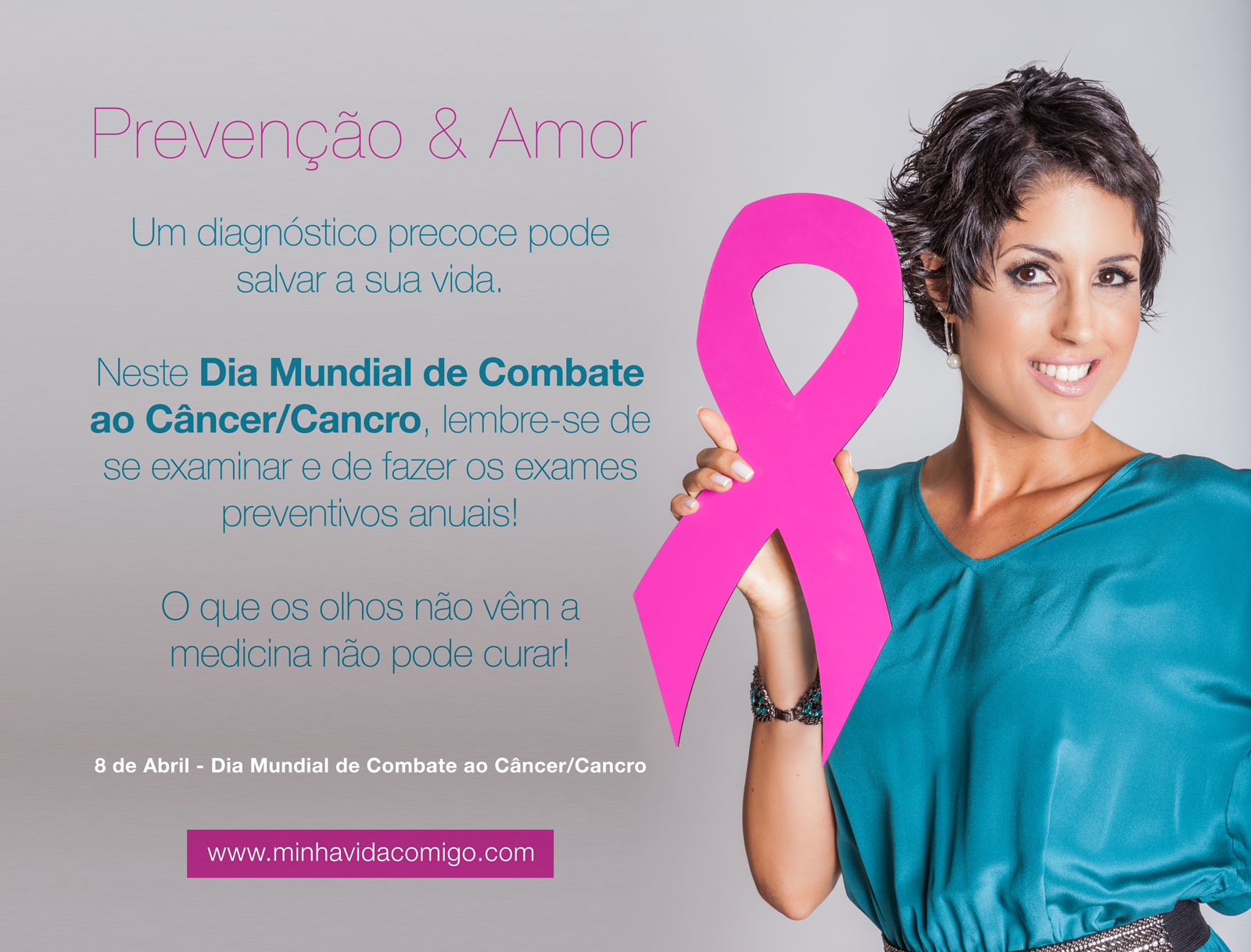 dia mundial do combate ao cancer